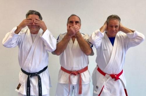 Olivier Knupfer 7e Dan, Dominique Valera 9e Dan etJean-Claude Knupfer 7e Dan Karate Club Valais Sion Suisse Switzerland