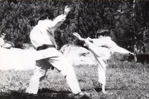 1972 Jean-Claude Knupfer et Olivier Knupfer 7e Dan Karate Club Valais Sion Suisse Switzerland