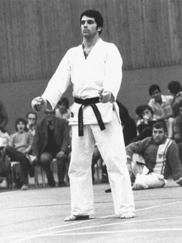 Jean-Claude Knupfer 1976 Karate Club Valais Sion Suisse Switzerland Ecole Olivier Knupfer 7e Dan