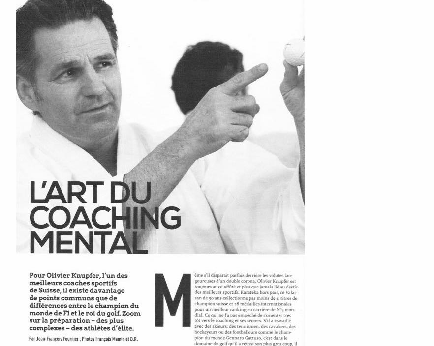 Article Olivier Knupfer coaching mental sportifs d'élite