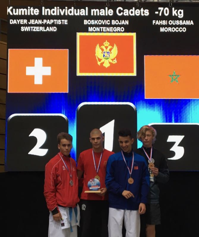 Jean-Baptiste Dayer Open de Croatie Karate Club Valais