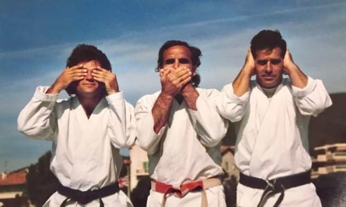 Dominique Valera 9e Dan et Olivier Knupfer 7e Dan Karate Club Valais Sion Suisse Switzerland