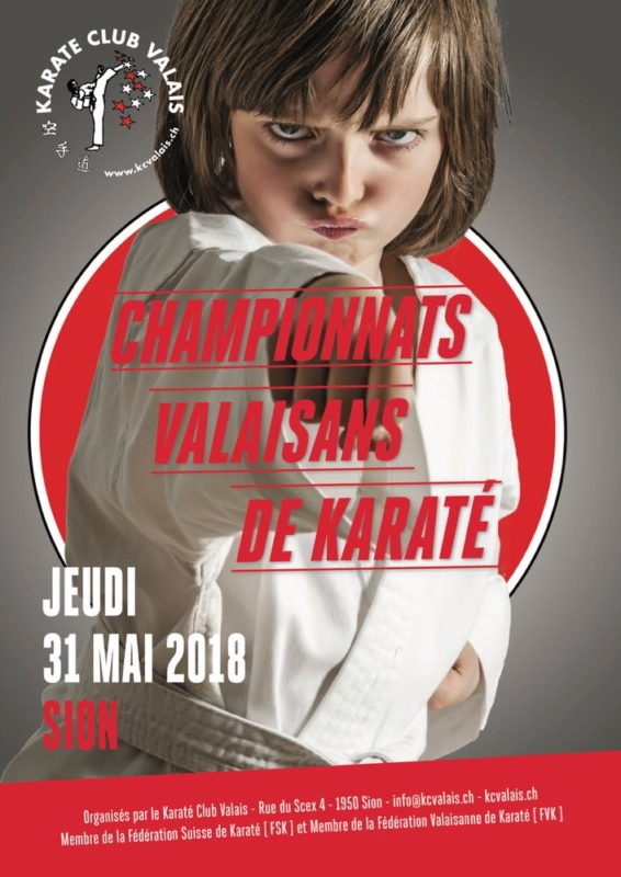 Affiche Championnats Valaisans Karaté 2018
