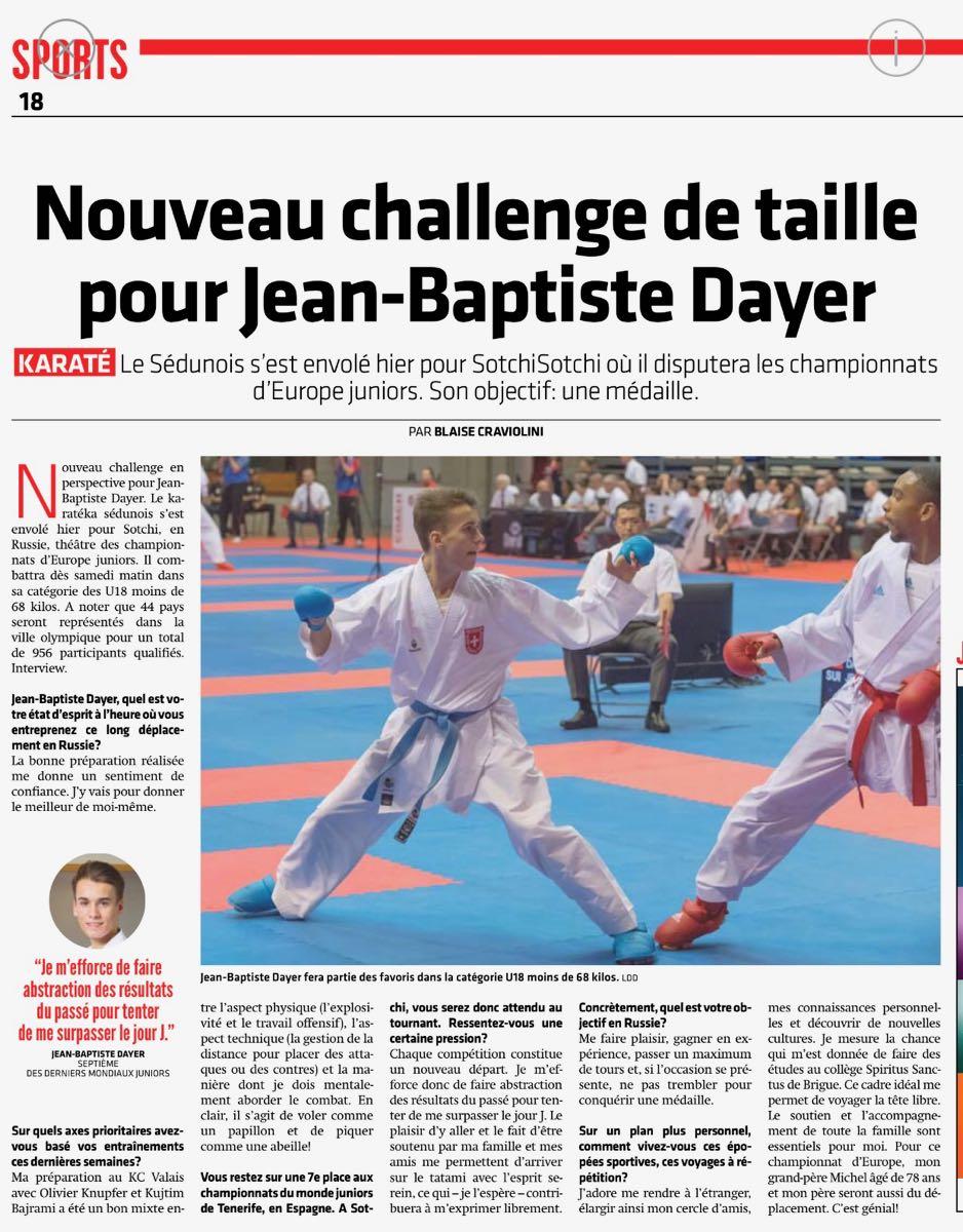 Européens Juniors de Sotchi | Jean-Baptiste Dayer