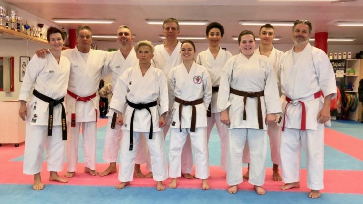 Nouvelles ceintures noires du Karaté Club Valais