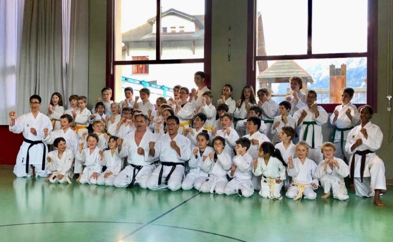 Passages de grades dojo du Châble Karaté Club Valais